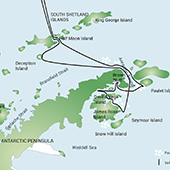 Route Map - Weddell Sea - Antarctic Discoverer
