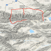 Route Map - Kyrgyzstan